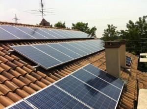 Tetto con pannelli solari