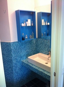Zona lavandino del bagno