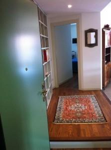 Pavimento in parquet con tappeto
