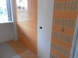 Piastrelle parete del bagno