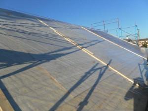 Fase di ristrutturazione del tetto