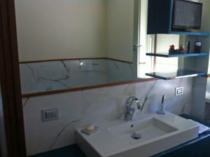 Zona lavandino bagno