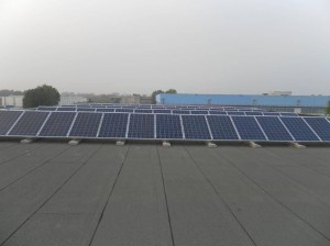 Panoramica impianto a pannelli fotovoltaici