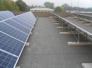 Vista laterale impianto fotovoltaico