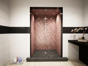 Mosaico Bisazza finitura doccia