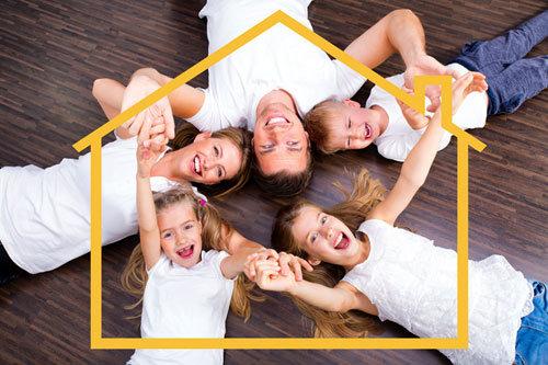 Ristrutturazione casa famiglia felice