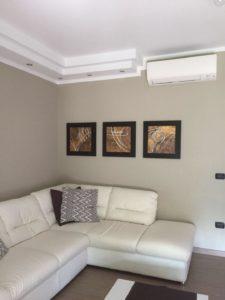 Split aria condizionata in soggiorno