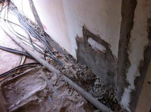 Ristrutturazione vecchi impianti su pavimento