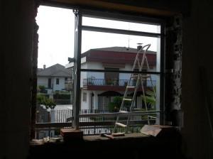 Vista dalla finestra durante lavoro