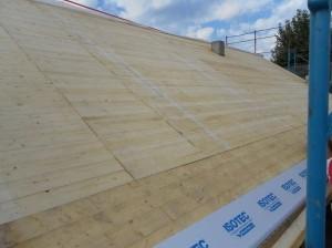 Posa dei pannelli isolanti sul tetto