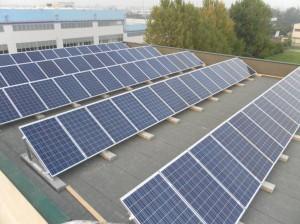 Vista dall'alto impianto fotovoltaico