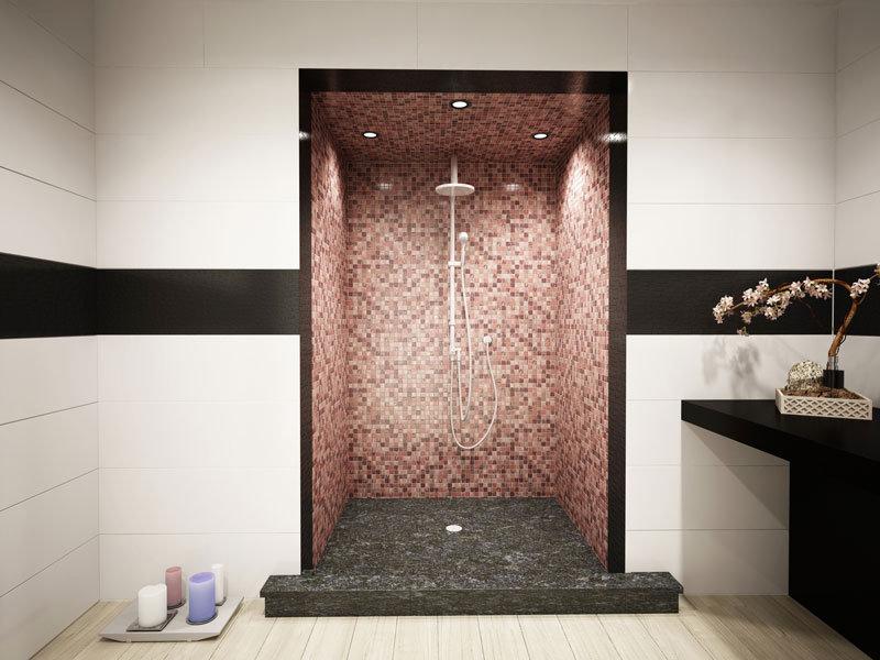 Ristrutturazione un bagno in mosaico bisazza e ardesia gallese