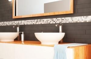 Striscia di mosaico Bisazza in bagno