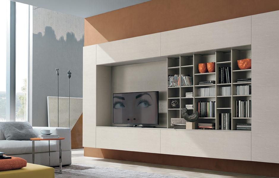 come arredare la parete soggiorno in stile moderno e