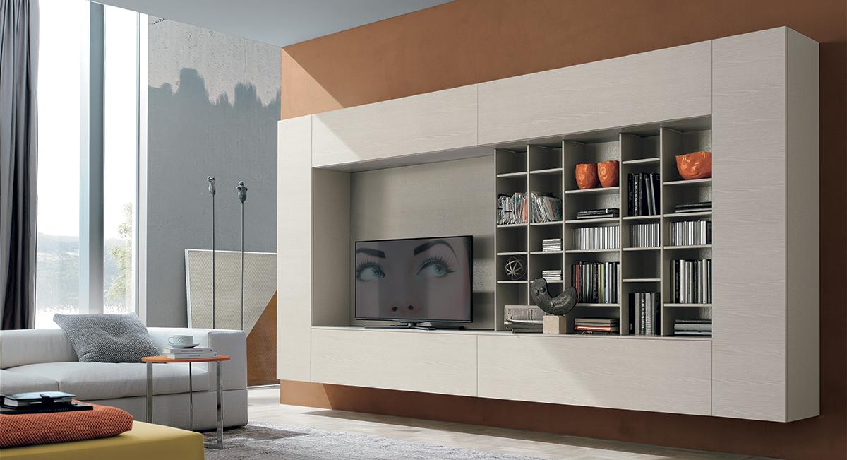 Come arredare la parete soggiorno in stile moderno e - Arredare sottoscala soggiorno ...