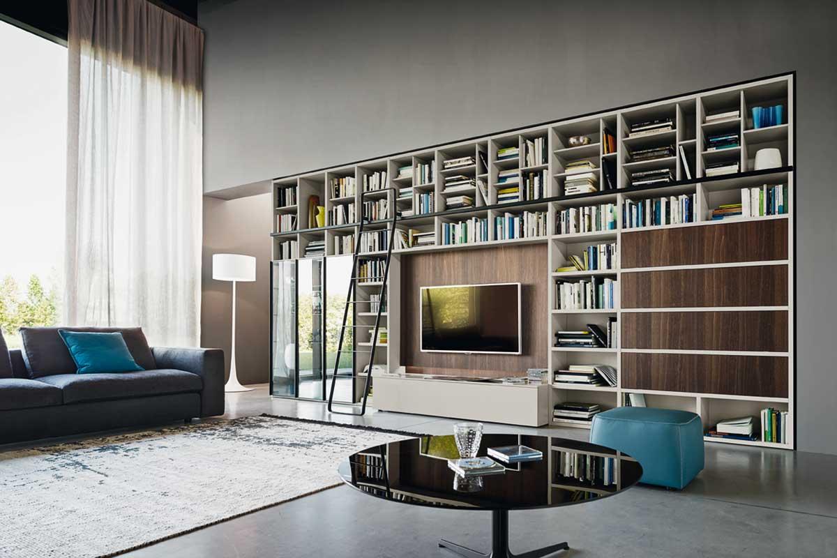 Come arredare la parete soggiorno in stile moderno e minimalista - Arredamento parete soggiorno ...
