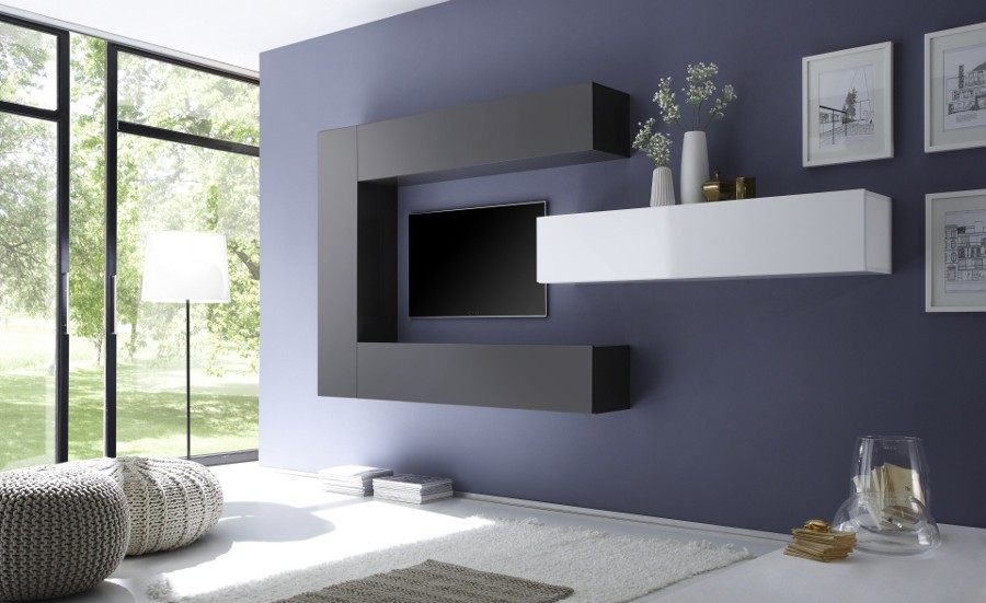 Come arredare la parete soggiorno in stile moderno e for Soggiorno minimalista